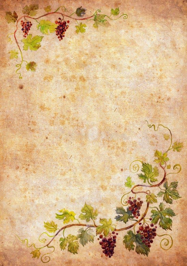 Blocco per grafici dell'uva illustrazione vettoriale