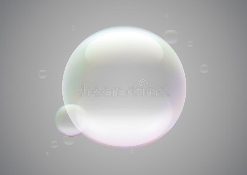 Blocco per grafici della bolla di sapone illustrazione di stock