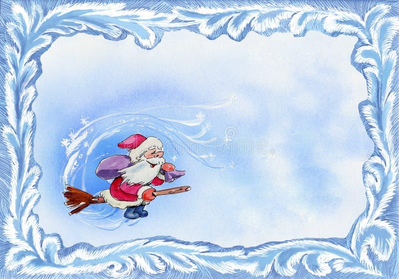 Blocco per grafici della cartolina di Natale illustrazione di stock