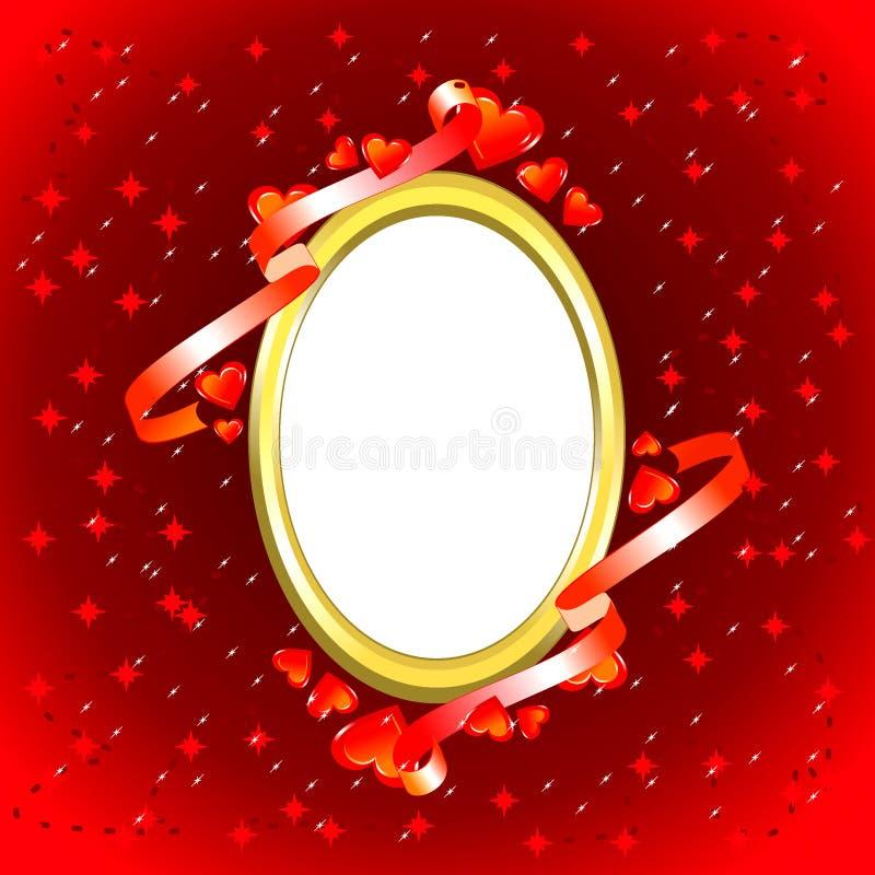 Blocco per grafici della foto del biglietto di S. Valentino illustrazione vettoriale