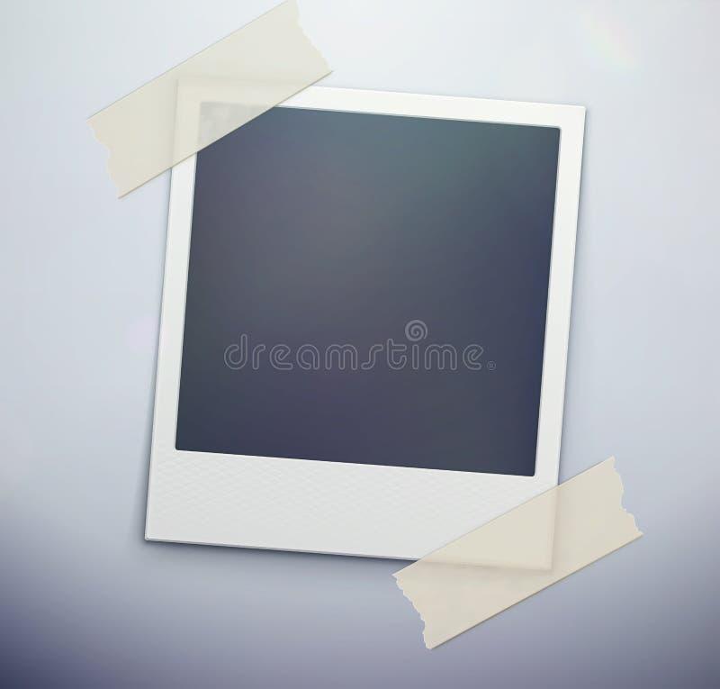 Blocco per grafici della foto della polaroid illustrazione di stock