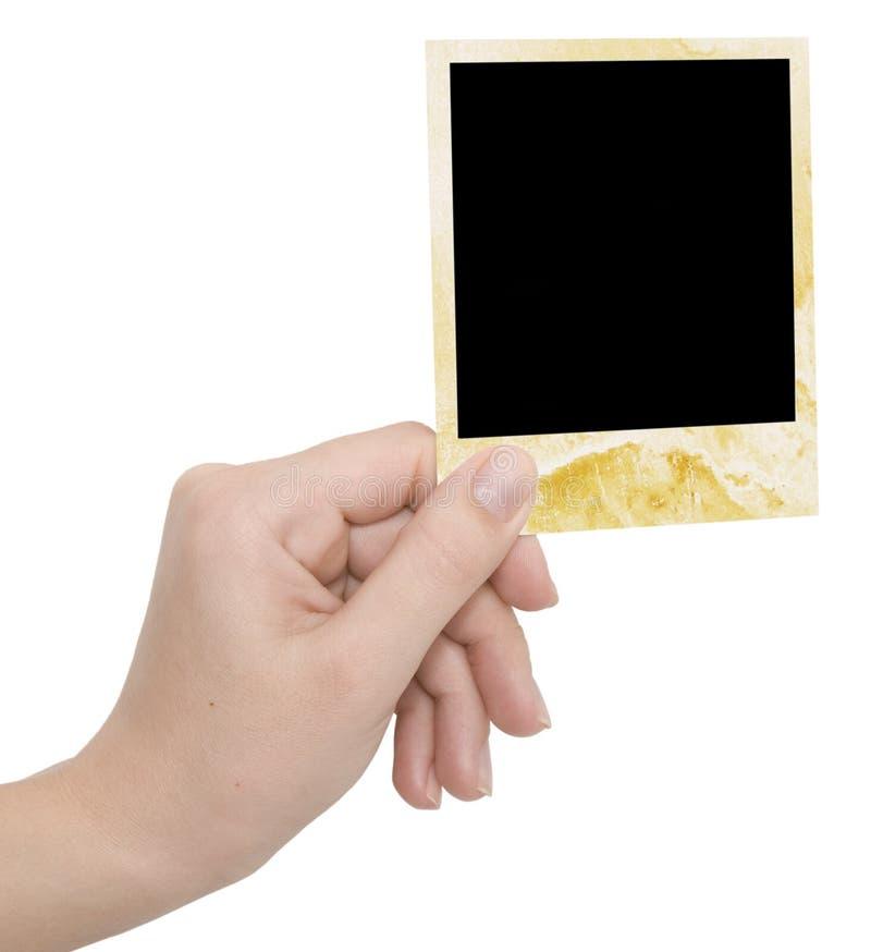 Blocco per grafici della foto in una mano immagini stock