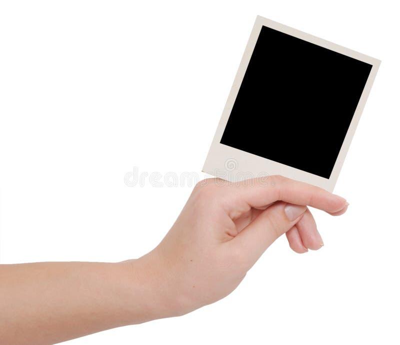 Blocco per grafici della foto in una mano immagine stock libera da diritti