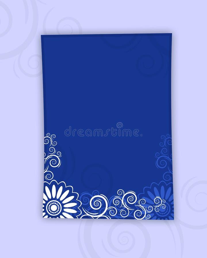 Blocco per grafici della lettera del documento blu illustrazione di stock