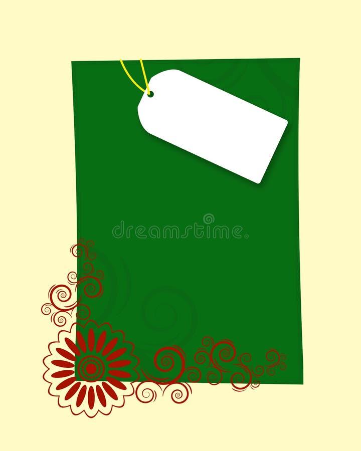 Blocco per grafici della lettera di natale illustrazione di stock