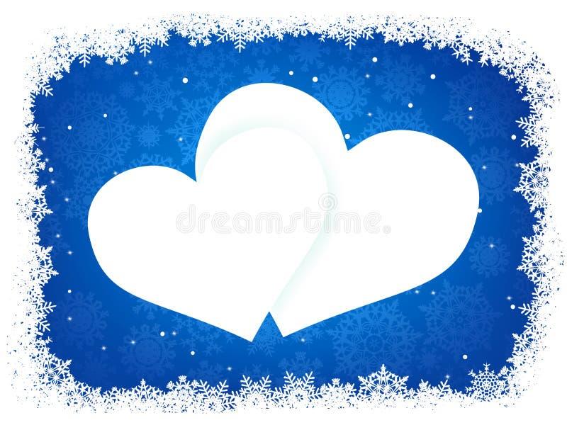 Blocco per grafici della neve sotto forma di cuore. ENV 8 royalty illustrazione gratis