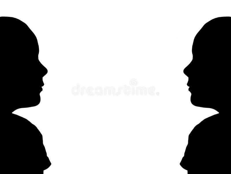 Download Blocco Per Grafici Della Siluetta Illustrazione di Stock - Illustrazione di ragazza, siluetta: 205136