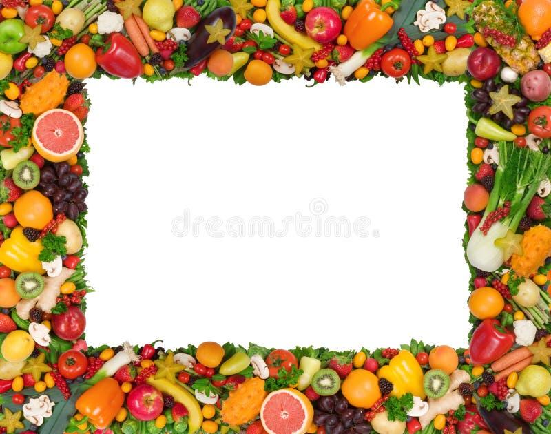Blocco per grafici della verdura e della frutta fotografia stock libera da diritti