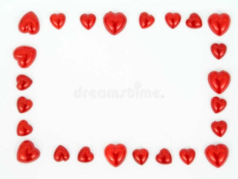 Blocco per grafici delle figure del cuore immagine stock
