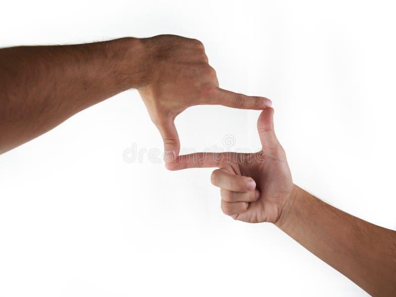 Blocco per grafici delle mani fotografie stock libere da diritti