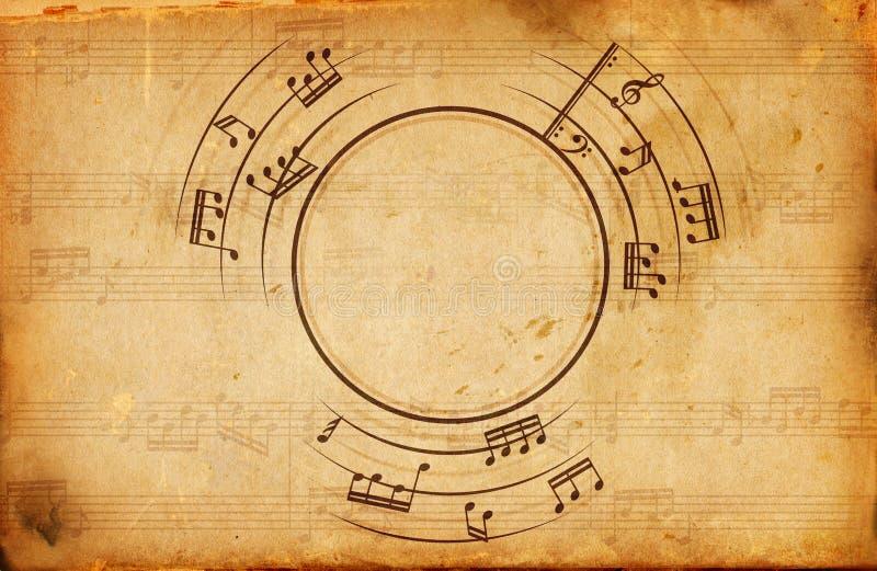 Blocco per grafici delle note musicali royalty illustrazione gratis