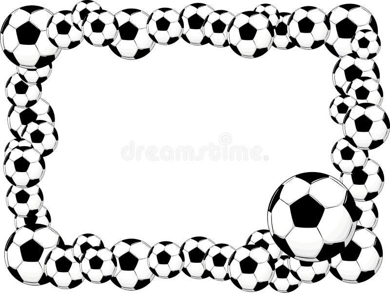 Blocco per grafici delle sfere di calcio royalty illustrazione gratis
