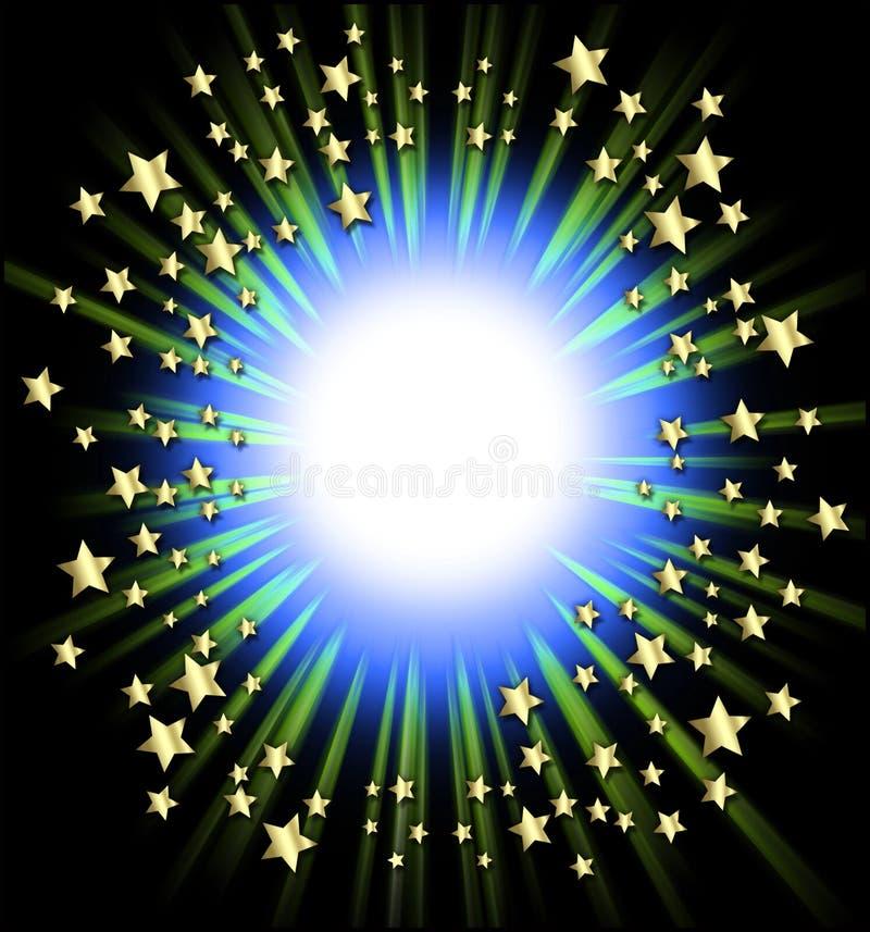 Blocco per grafici delle stelle di fucilazione illustrazione di stock