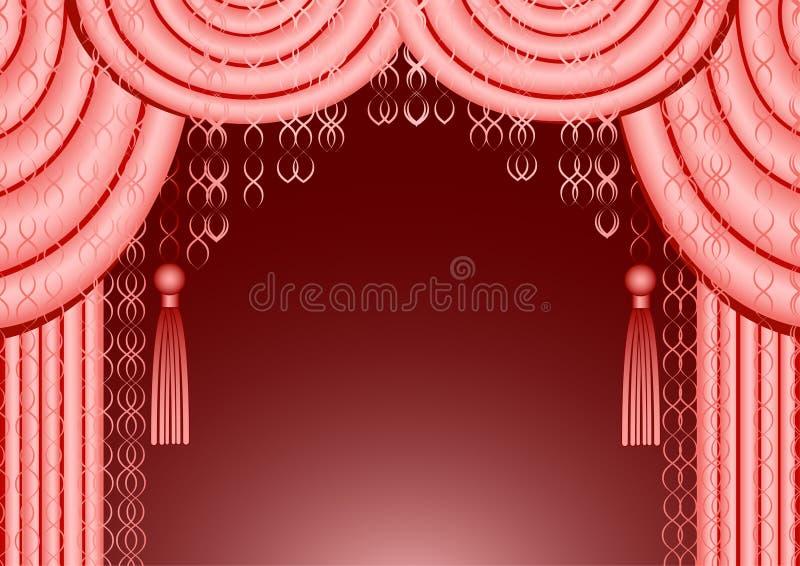 Blocco per grafici dentellare della tenda royalty illustrazione gratis