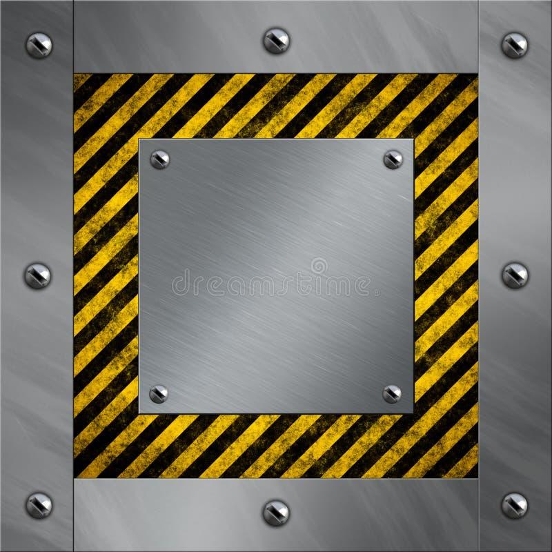 Blocco per grafici di alluminio e bande d'avvertimento illustrazione vettoriale