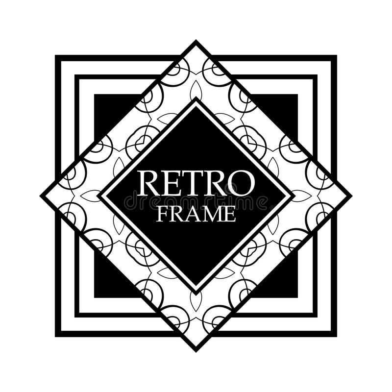 Blocco per grafici di art deco royalty illustrazione gratis