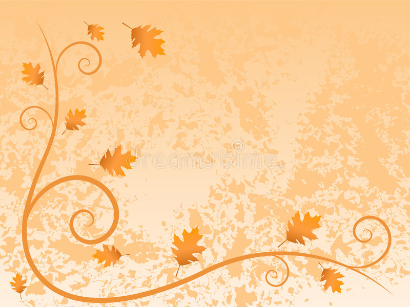 Blocco per grafici di autunno royalty illustrazione gratis