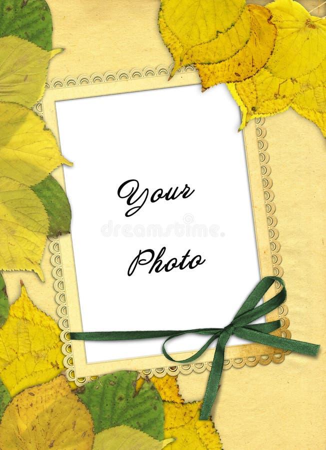 Blocco per grafici di autunno illustrazione vettoriale