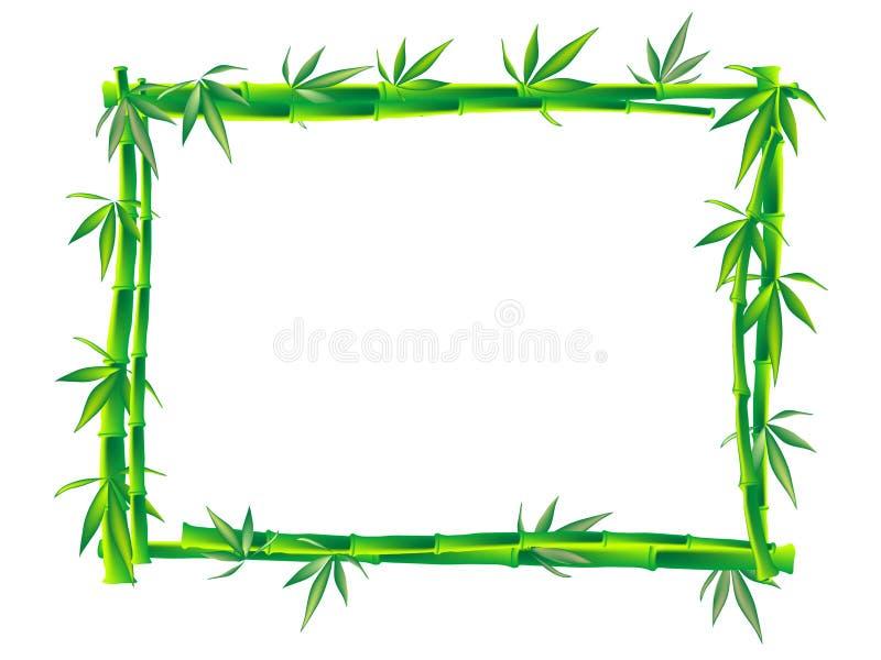 Blocco per grafici di bambù illustrazione di stock
