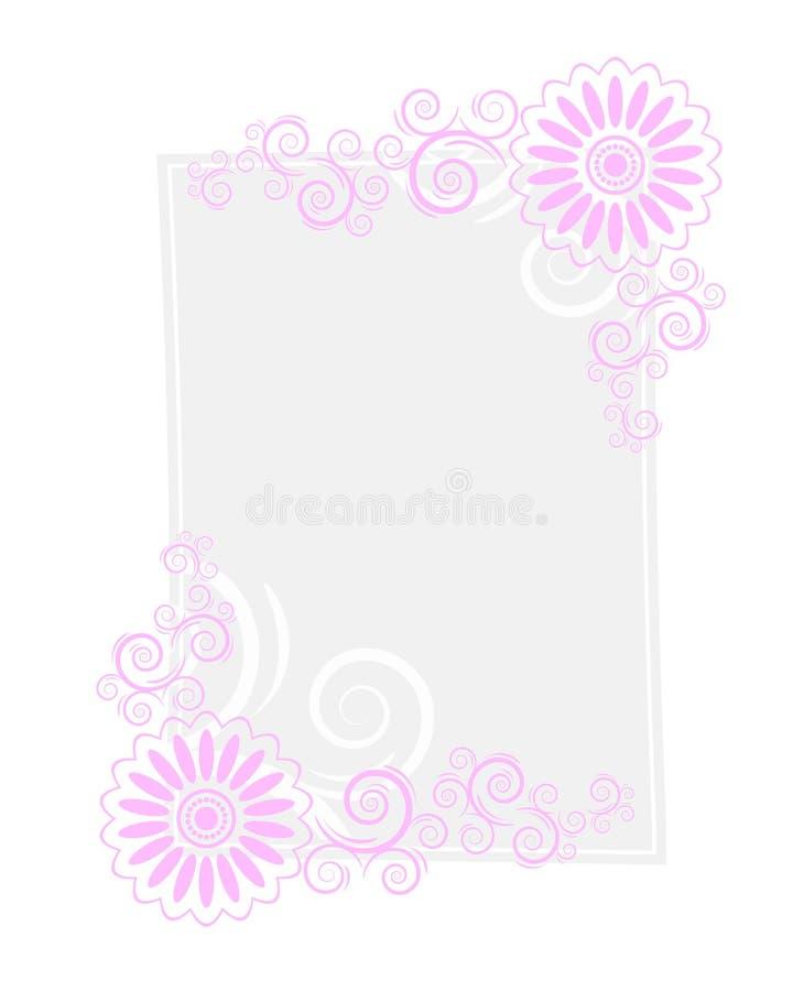 Blocco per grafici di carta della lettera illustrazione di stock