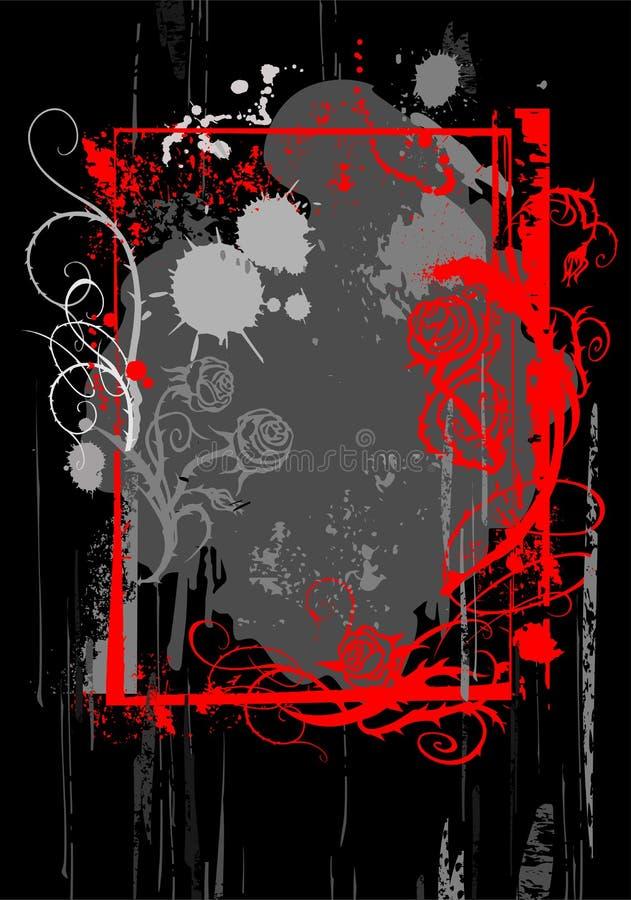 Blocco per grafici di colore rosso di Grunge royalty illustrazione gratis