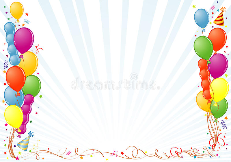 Blocco per grafici di compleanno illustrazione di stock