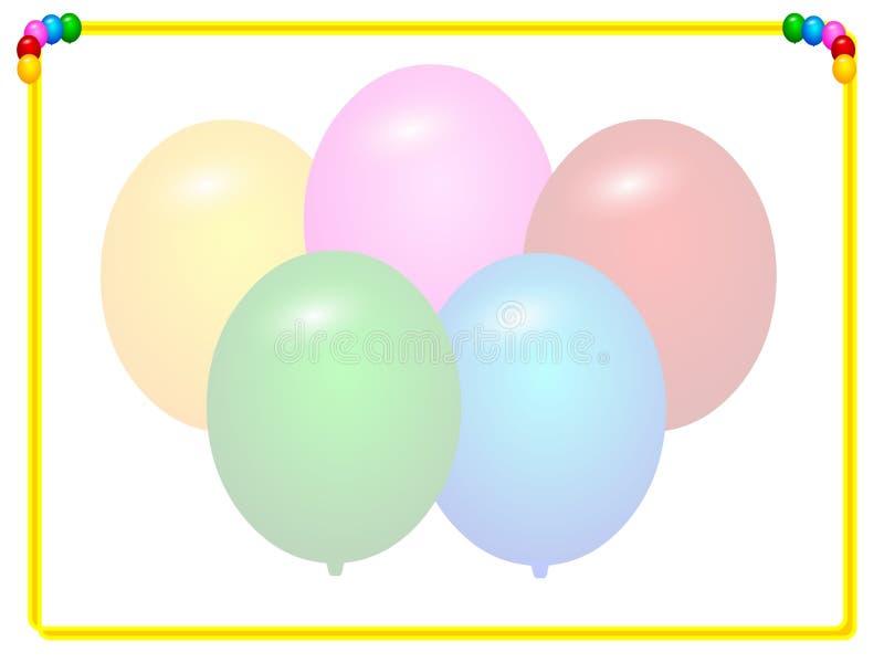 Blocco per grafici di compleanno illustrazione vettoriale