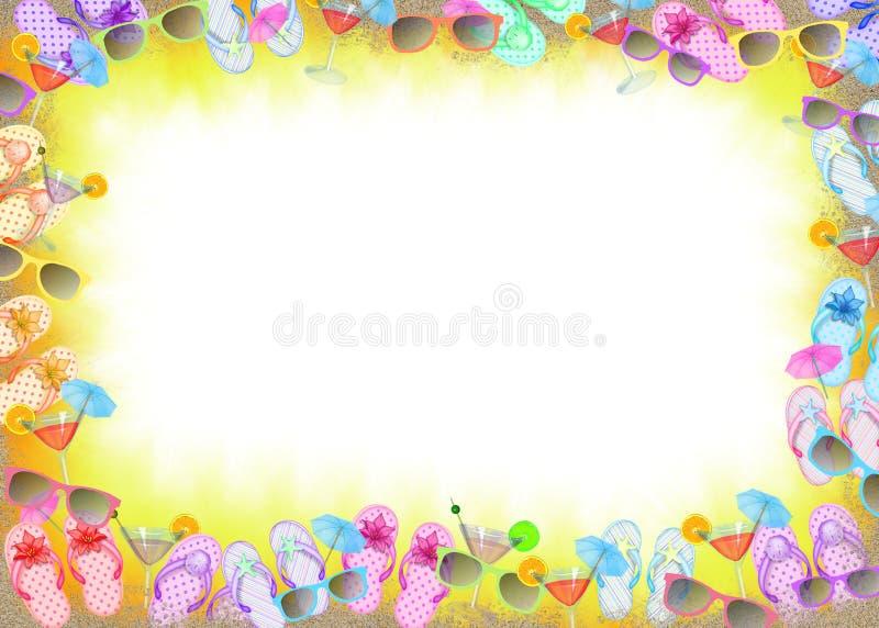 Blocco per grafici di flip-flop con i cocktail illustrazione vettoriale