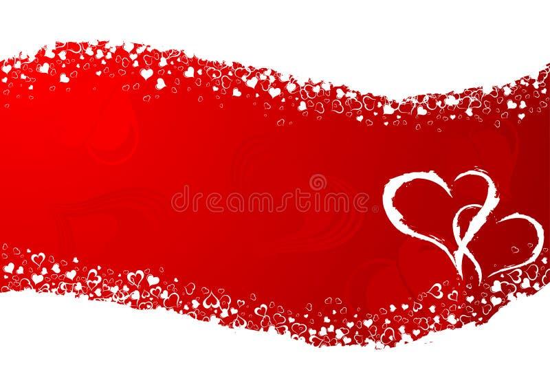 Blocco per grafici di giorno dei biglietti di S. Valentino illustrazione di stock
