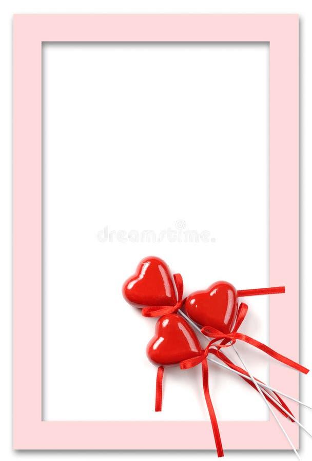 Blocco per grafici di giorno dei biglietti di S. Valentino fotografie stock