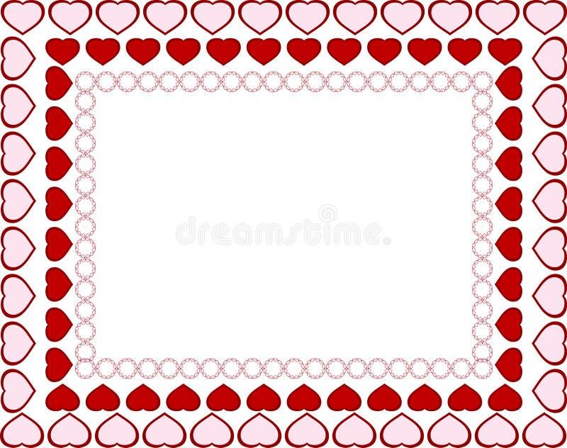 Blocco per grafici di giorno dei biglietti di S. Valentino illustrazione vettoriale
