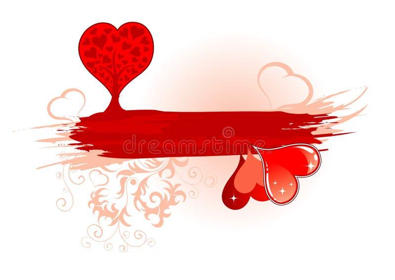 Download Blocco Per Grafici Di Giorno Dei Biglietti Di S. Valentino Con L'albero Ed I Cuori Illustrazione Vettoriale - Illustrazione di macchia, celebrazione: 3888692