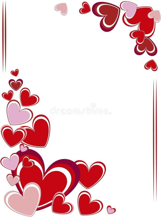 Blocco per grafici di giorno del biglietto di S. Valentino royalty illustrazione gratis