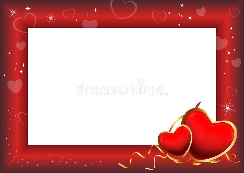 Blocco per grafici di giorno del biglietto di S. Valentino illustrazione vettoriale