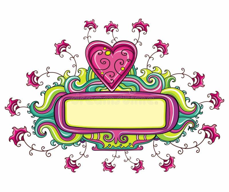 Blocco per grafici di giorno del biglietto di S. Valentino felice illustrazione vettoriale