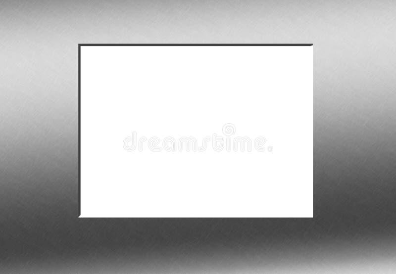 Blocco per grafici di grey d'acciaio illustrazione di stock
