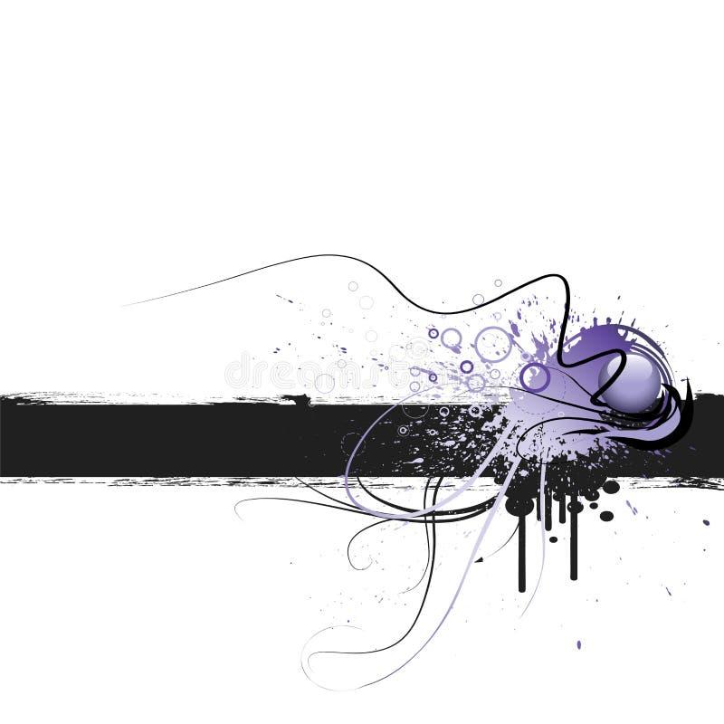 Blocco per grafici di Grunge illustrazione di stock