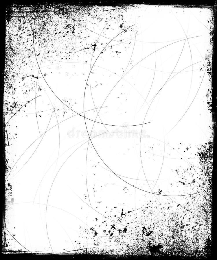 Blocco per grafici di Grunge con le graffiature illustrazione di stock