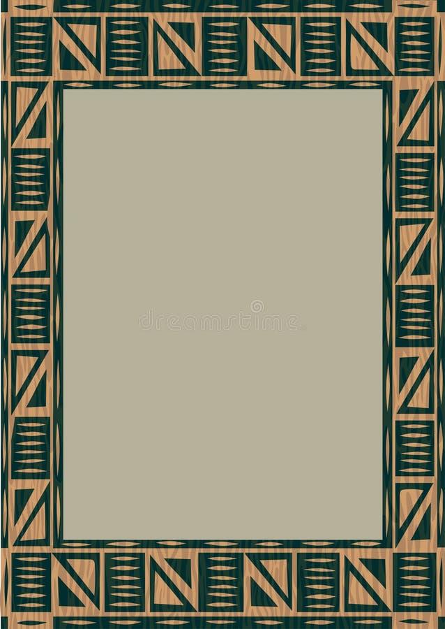 Blocco per grafici di legno africano illustrazione vettoriale