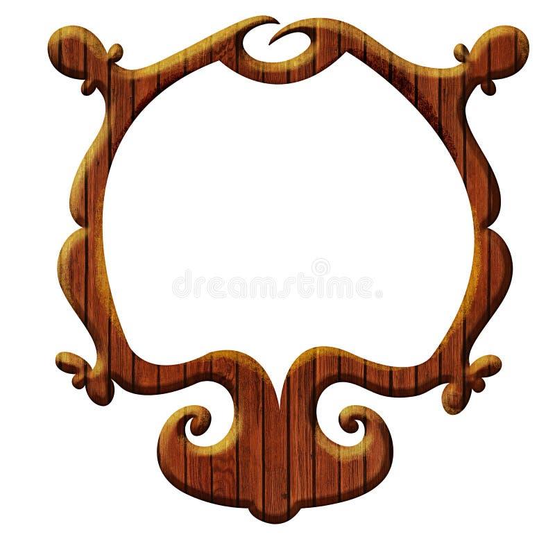 Blocco per grafici di legno artistico royalty illustrazione gratis