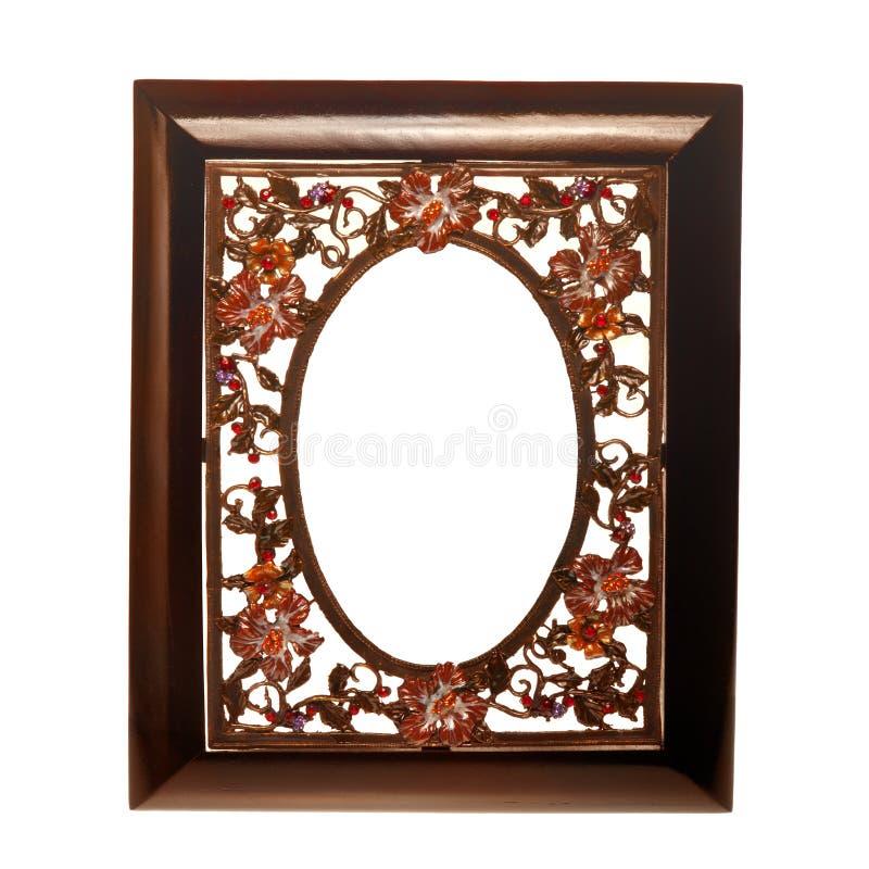 Blocco per grafici di legno con un inserto del metallo fotografie stock