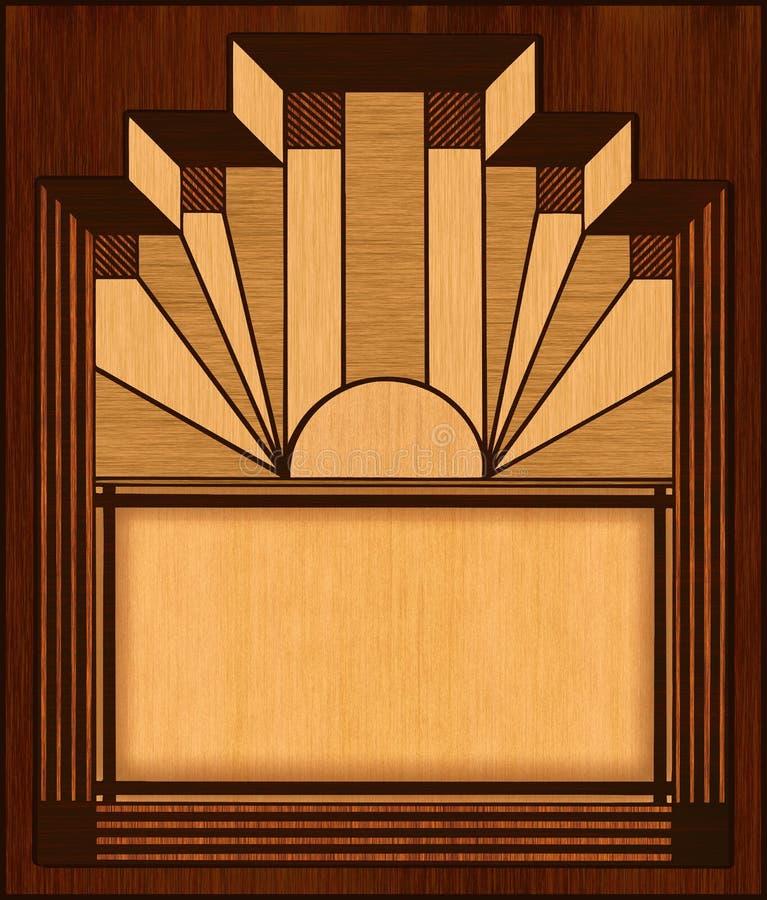 Blocco per grafici di legno dell'intarsio di art deco royalty illustrazione gratis