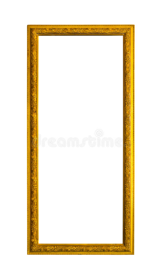 Blocco per grafici di legno dorato di immagine della foto isolato immagine stock libera da diritti