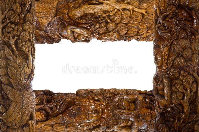 Blocco per grafici di legno intagliato. fotografia stock