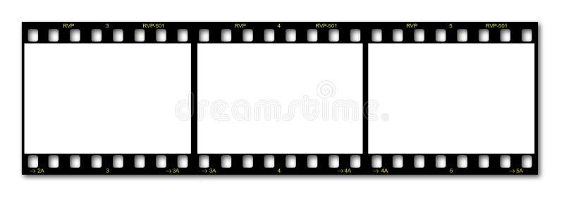 Blocco per grafici di pellicola in bianco immagine stock