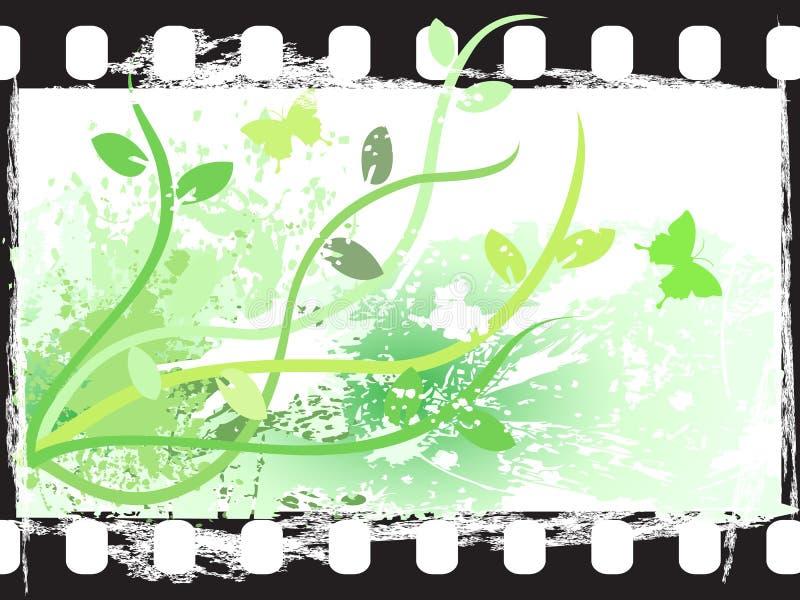 Blocco per grafici di pellicola floreale di Grunge illustrazione vettoriale