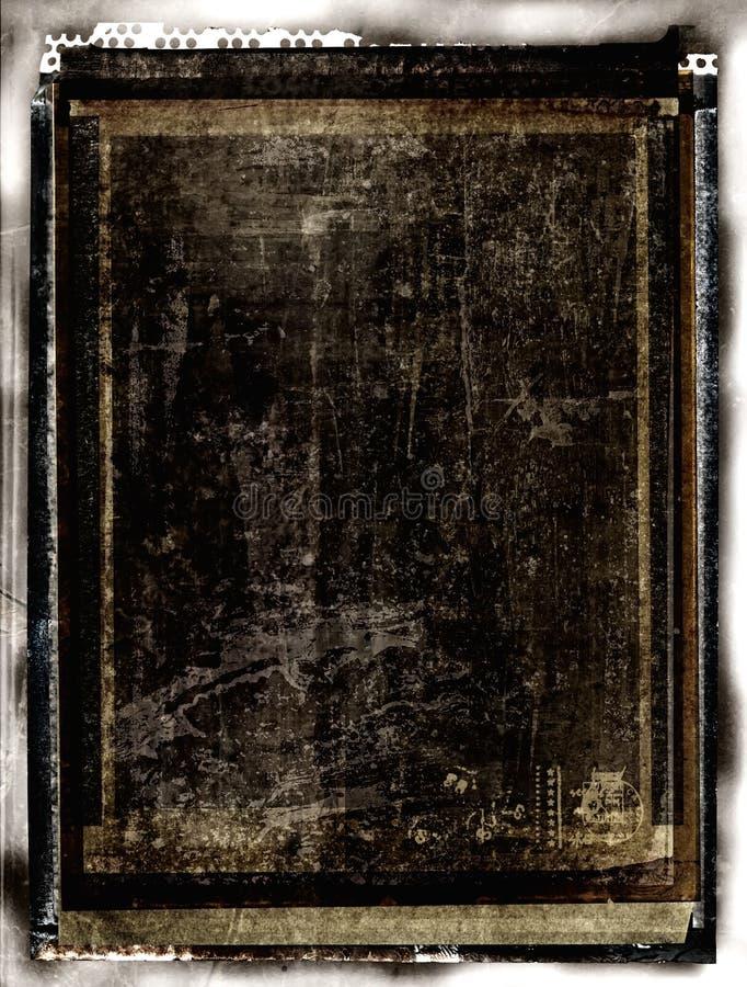 Blocco per grafici di pellicola graffiato illustrazione di stock