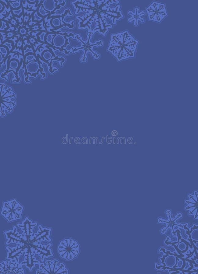 Blocco per grafici di pizzo del fiocco di neve royalty illustrazione gratis