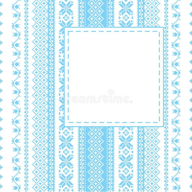 Blocco per grafici di ricamo nello stile piega royalty illustrazione gratis