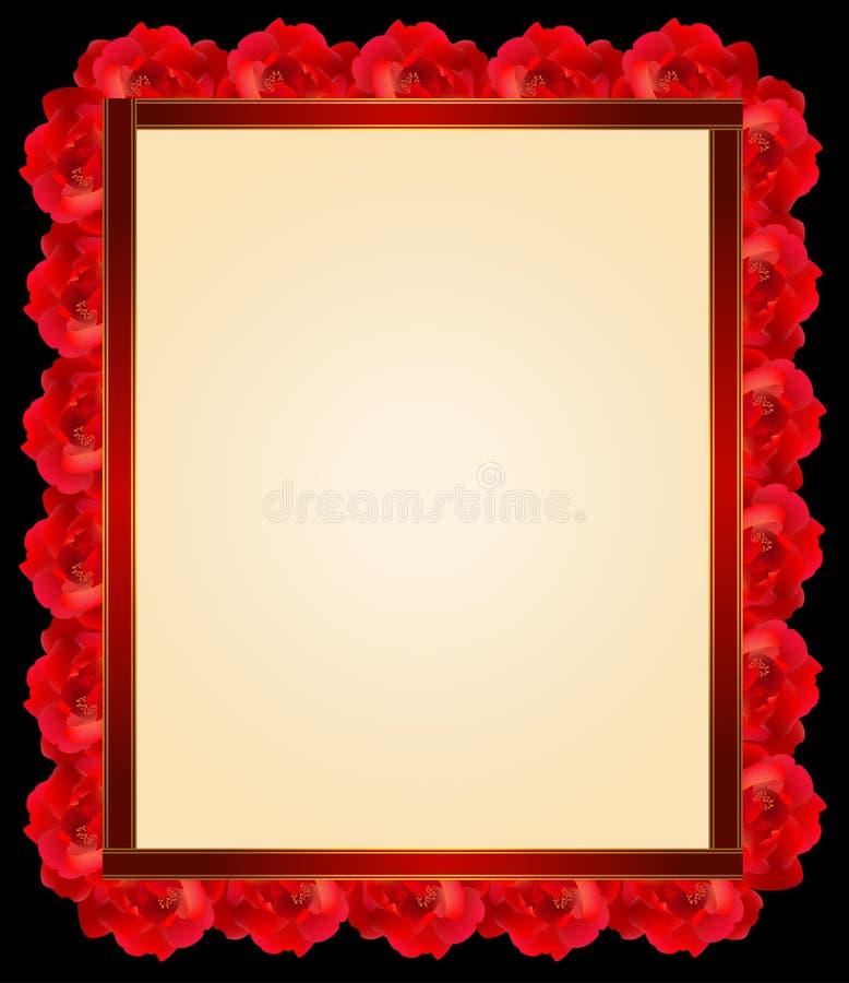 Blocco per grafici di rosa di colore rosso illustrazione di stock
